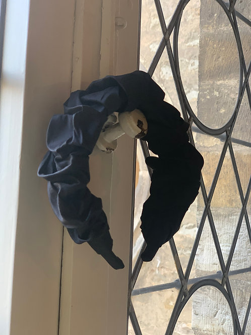 Black Croissant Headband