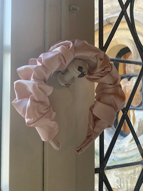Soft Pink Croissant Headband