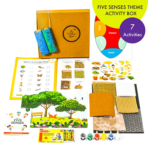 Explore Five Senses Theme Activity Box