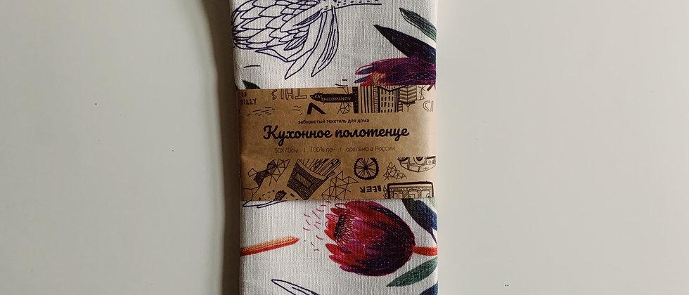 Полотенце с цветами