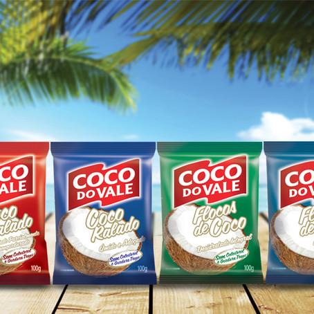 Coco ralado e flocos