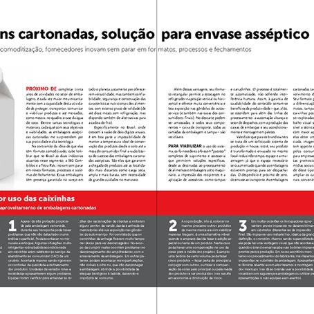 Revista EmbalagemMarca: Embalagens cartonadas, solução para envase asséptico