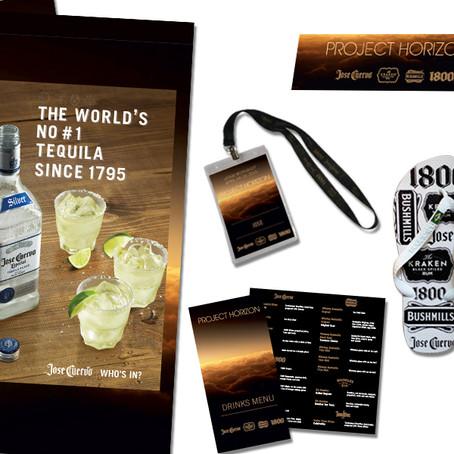 Materiais promocionais do portfólio da Jose Cuervo Internacional. Speranzini atende América Latina e
