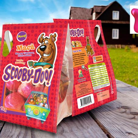 A embalagem agrega: Maçã Scooby-Doo!