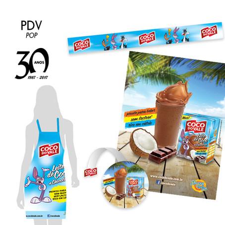 Material promocional e PDV Coco do Vale.