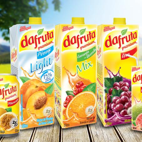 Dafruta: identidade de produto, design de embalagens e PDV.