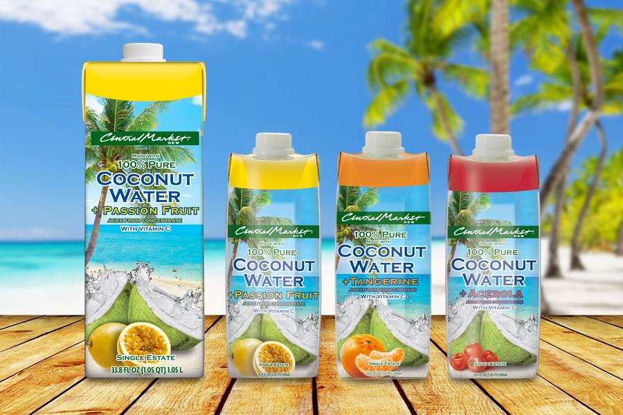 Central Market - USA - água de coco