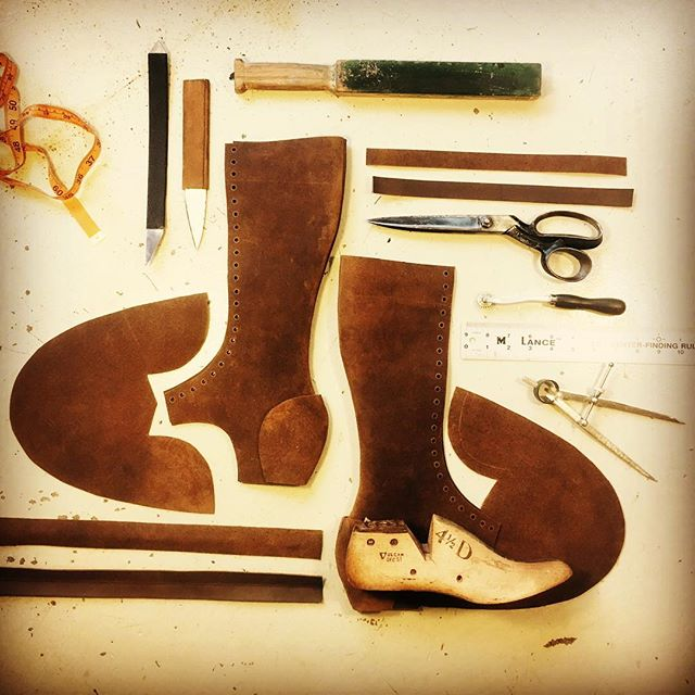 Day 2, Laying out a new boot design, let