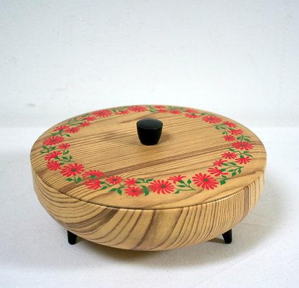 Boîte rétro faux bois