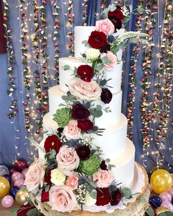 cascading wedding cake