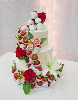 dipped strawberry cake