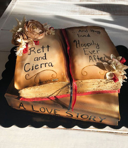 wedding book cake