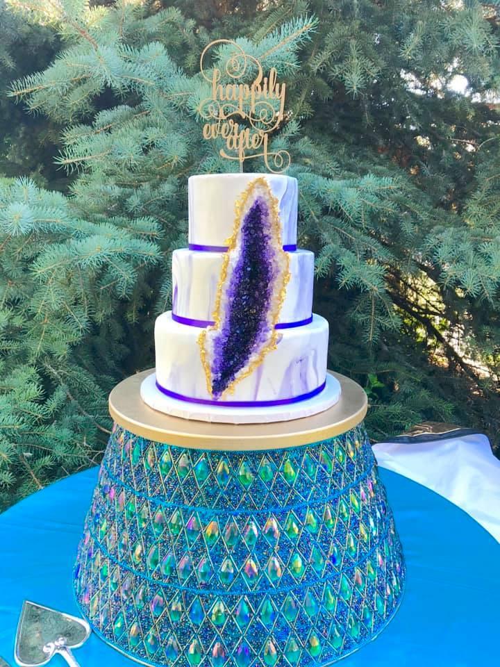 Purple geode cake
