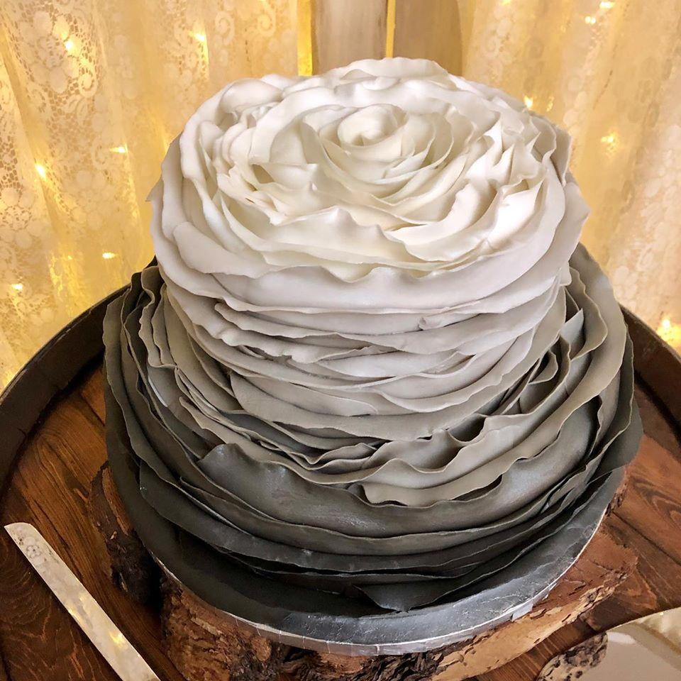 black ombre cake