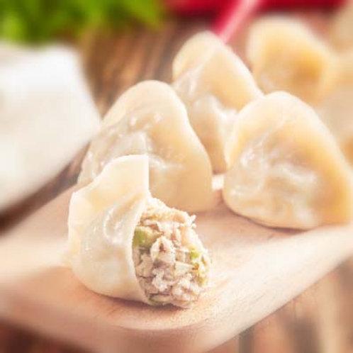 薑黃高麗菜豬水餃 (NT$6/顆, 每包30顆)