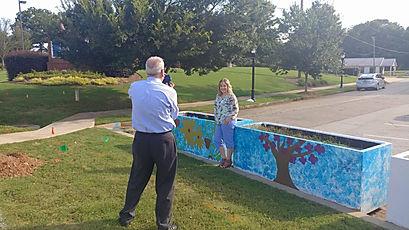 Trena Myes Mural Artist for Historical Braselton, GA