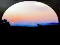 sunset blue ridge