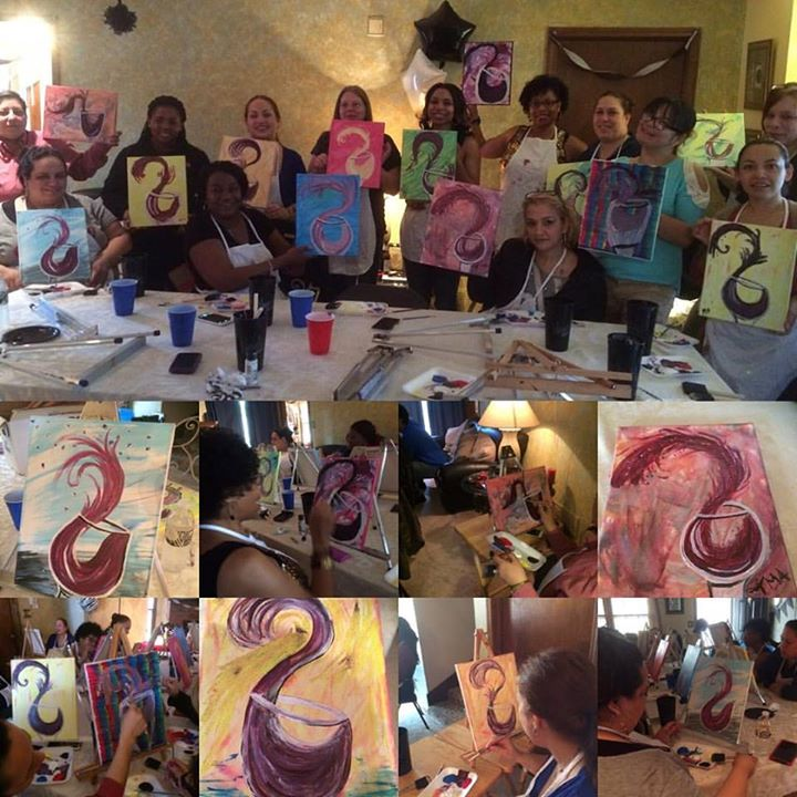 #designsbytrena #paintingparty #wine