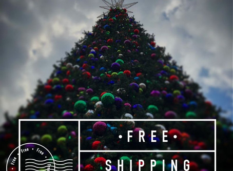 Free Shipping for orders made by Saturday Dec 9!