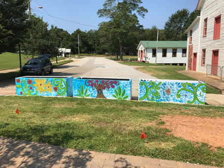 Historical Downtown Braselton mural project is complete! Stop by to check out the design created by