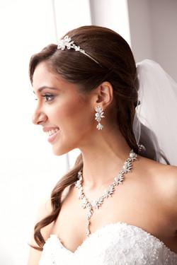 Profile of bride