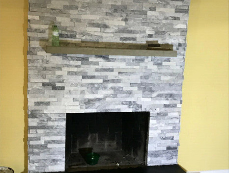 Stone and mantel
