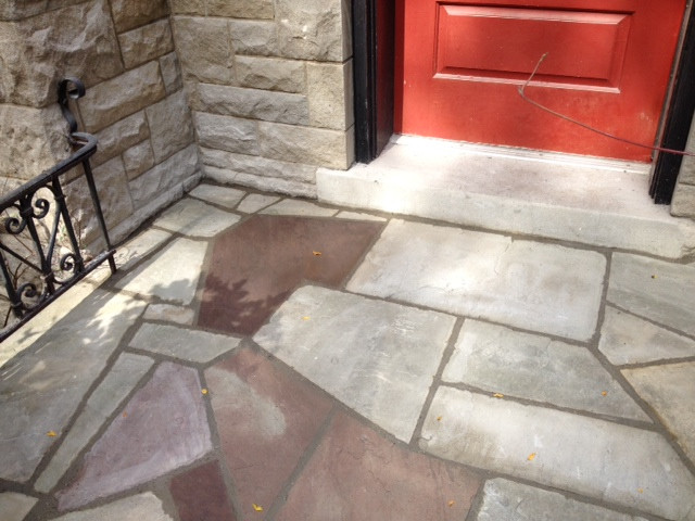 Flagstone front step_1