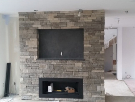 Banas Stone fireplace