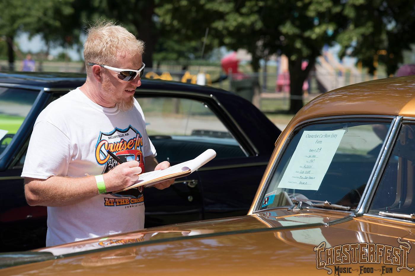 Judging at Chesterfest Car Show