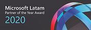 Microsft Latam partner of the year award 2020
