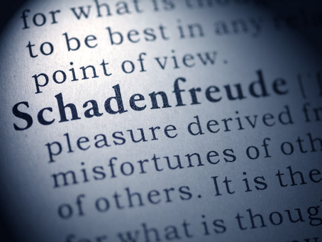 Schadenfreude…and Covid…and Shame