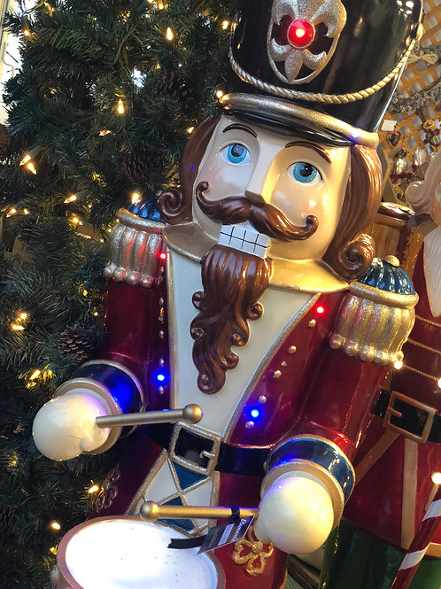 5ft Musical Drummer Nutcracker