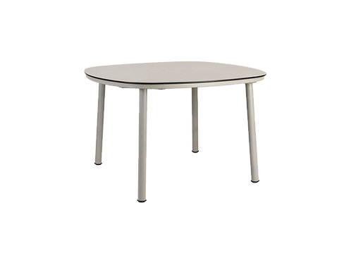 Cordial Beige Dining Table Sand HPL Top 1.2m x 1.2m