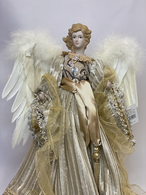 Large gold angel tree topper