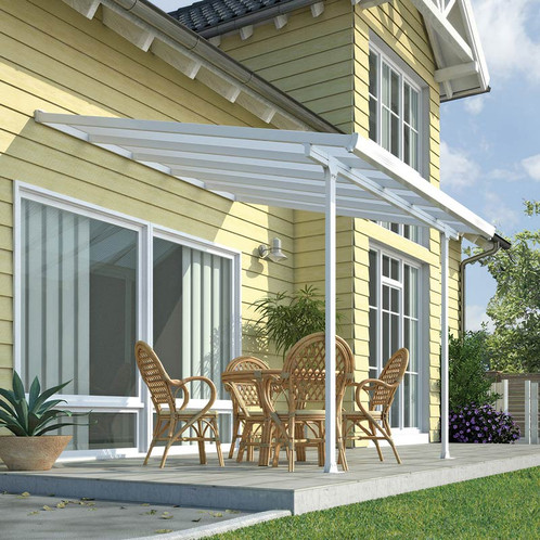 white wall mounted polycarbonate gazebo awning the garden furnitur department 100. Black Bedroom Furniture Sets. Home Design Ideas