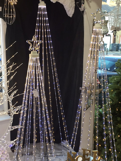 Small Led Sprung Tree with Star