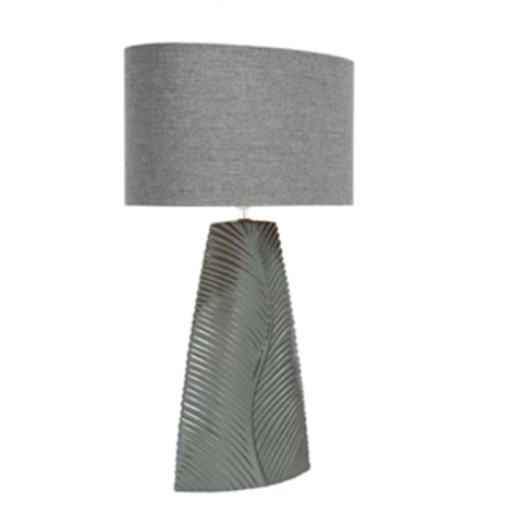 Grey Lamp & 2 Tone Linen Shade