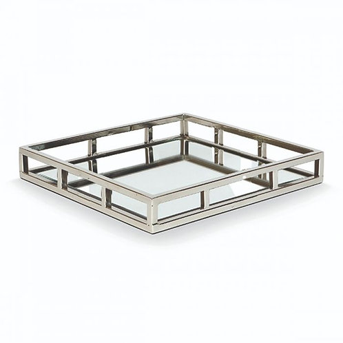 Large Square Mirrored Dining Tray