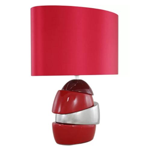 Coloured Ceramic Lamp & Shade