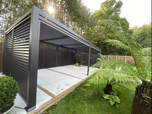 Maranza 3.5x 7.2m Vented pergola with side options