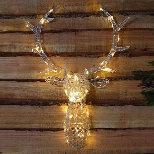 Jewelled stag head White / Warm White