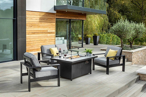 Atlas 2 Seat Lounge Set with Gas Firepit