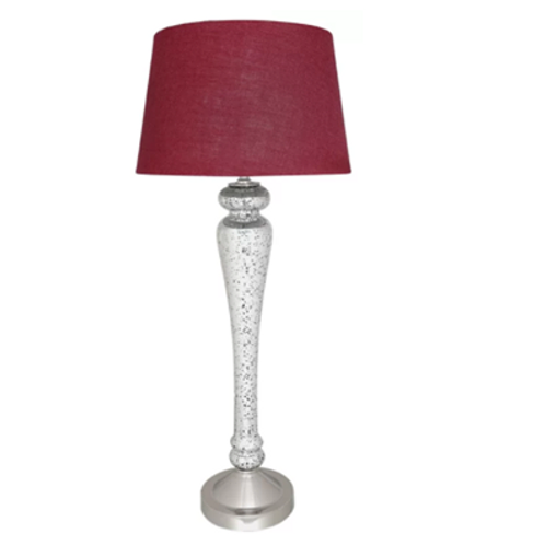 Silver Glass Table Lamp 87cm