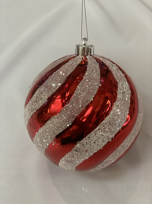 Extra large red & white stripe ball