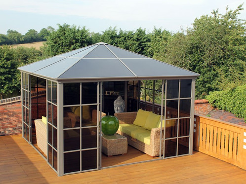 Our Polycarbonate 365m X Square Screen Gazebo Is Perfect For Your Garden This Roof House Great Way Of Enjoying You No