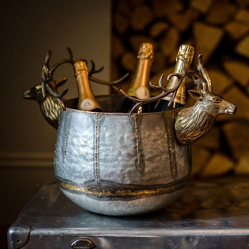 Stag Dual Silver & Gold Wine Cooler