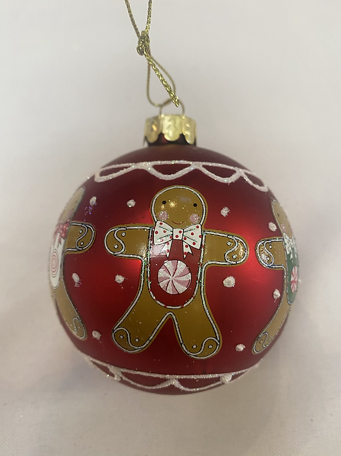 Candycane gingerbread ball