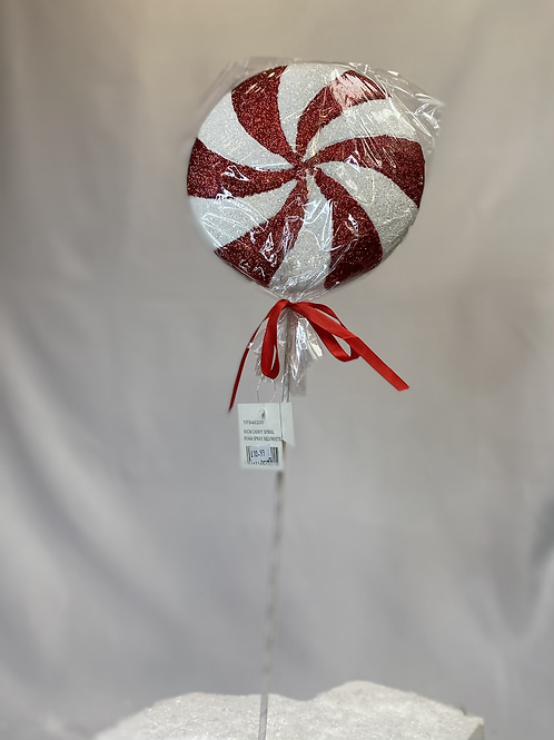 Spiral flat lolly on stick