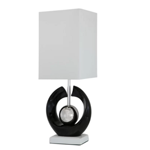 Ceramic Lamp with Faux Silk Square Shade