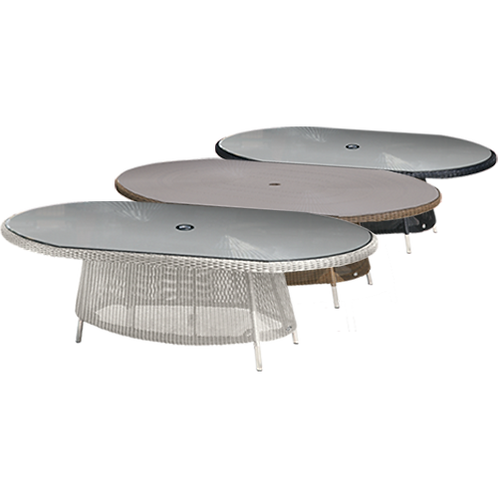 Valencia Oval Dining Table 200 x 145cm